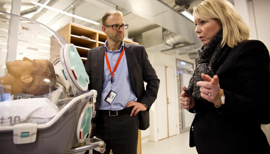 Gründer Fridtjof Heyerdahl i Epiguard og næringminister Monica Mæland, Foto: Per-Ivar Nikolaisen