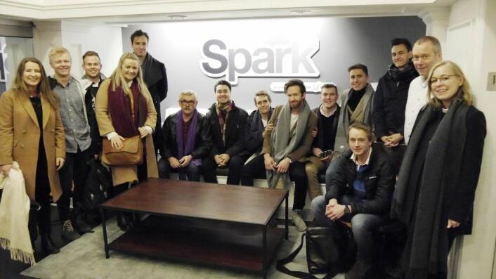 Spark NTNU besøkte blant annet teknologi-inkubatoren Spark Lab i New York (tilfeldig navne-match) for å lære om det globale markedet. Foto: Julie Evensen