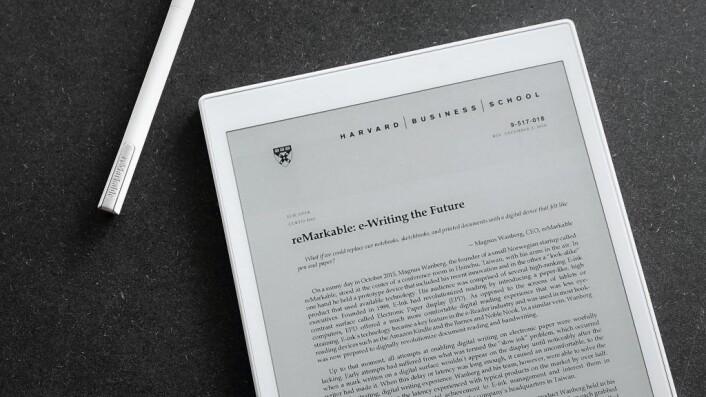 reMarkable er blitt pensum på Harvard.