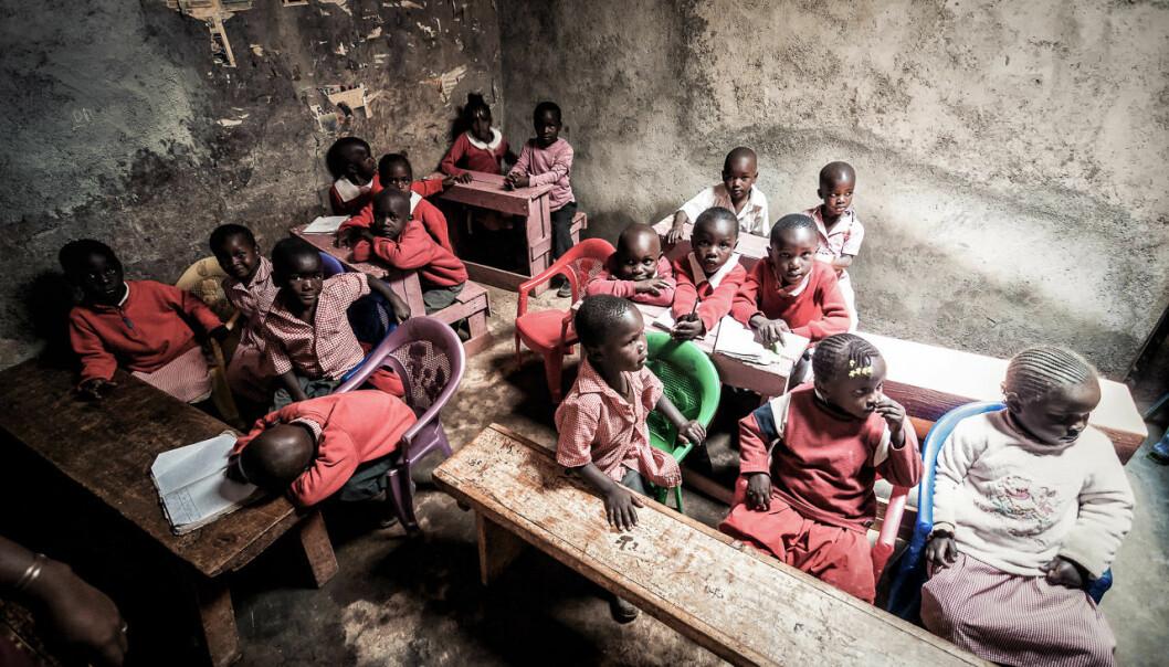 Et klasserom i Kibera-slummen i Nairobi. Foto: Michał Huniewicz