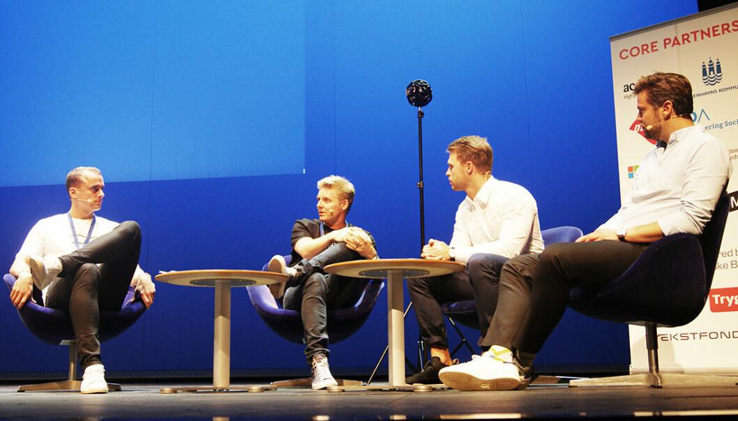 Ståle Fredlund Huseby (nummer to fra venstre) forteller om spennende tider for norske gründere i København.