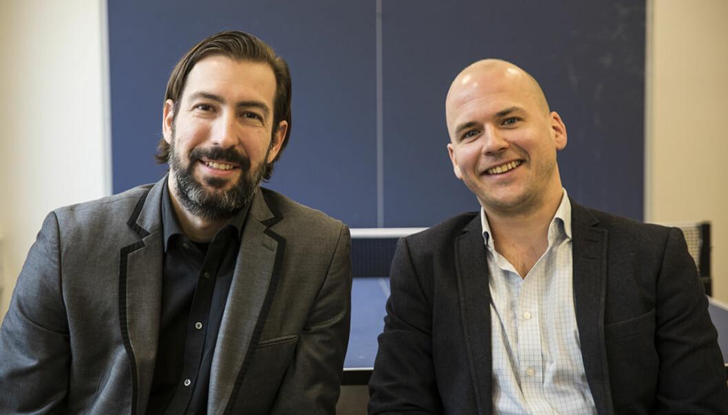 Sean Percival og Haakon Brunell starter akselerator for impact-tech. Foto: Per-Ivar Nikolaisen