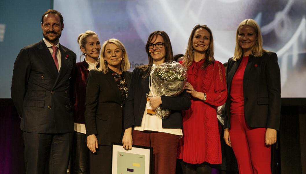 Nuria Espallargas, Seram Coatings, omflakket av ministere, kronprinsparet og en sjef i Innovasjon Norge.