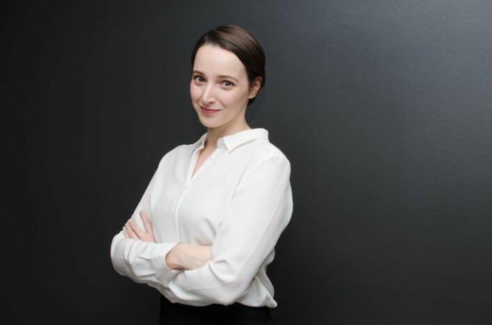 Pressebilde av Rianne Vogels fra den gangen hun var daglig leder i Volusense. Foto: Volusense