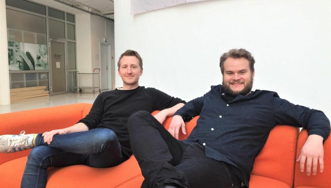 SCRIMBA: Sindre Aarsæther (CTO) og Per Harald Borgen (daglig leder). foto: Scrimba.
