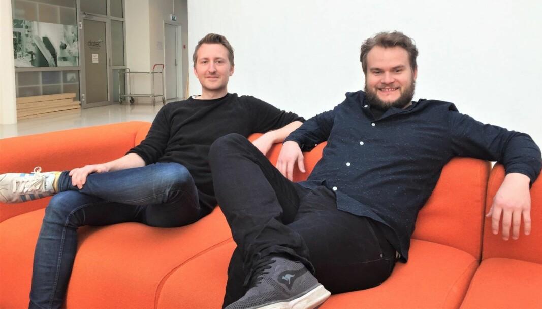 Sindre Aarsæther (CTO) og Per Harald Borgen (daglig leder). Foto: Scrimba