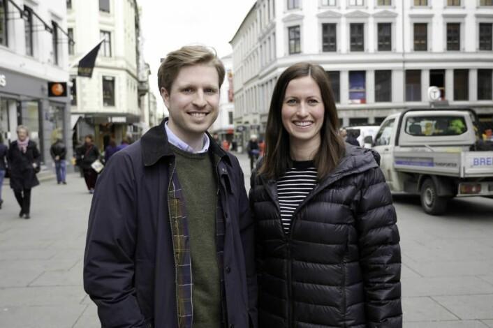 Mats Lyngstad og Marie Mostad er gründere av tjenesten Inzpire.me. Foto: Inzpire.me.