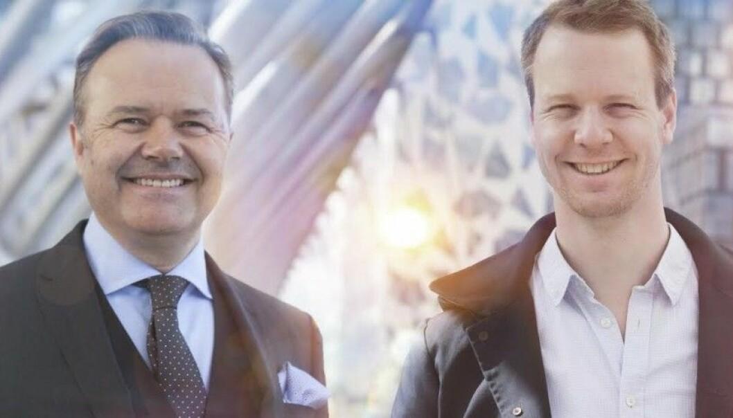The Future Group-gründerne Jens Petter Høili og Bård Anders Kasin (til høyre). Foto: The Future Group.