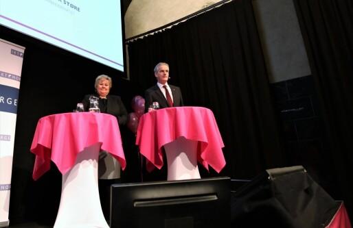 Digital duell mellom Solberg og Gahr Støre: Er to store partier som hakker på hverandre det beste vi har å komme opp med?