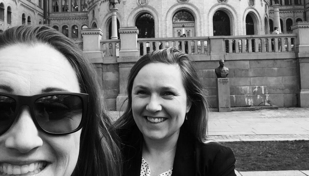 Kristine Askvik og Silje Kathrine Robinson. Foto: Selfie