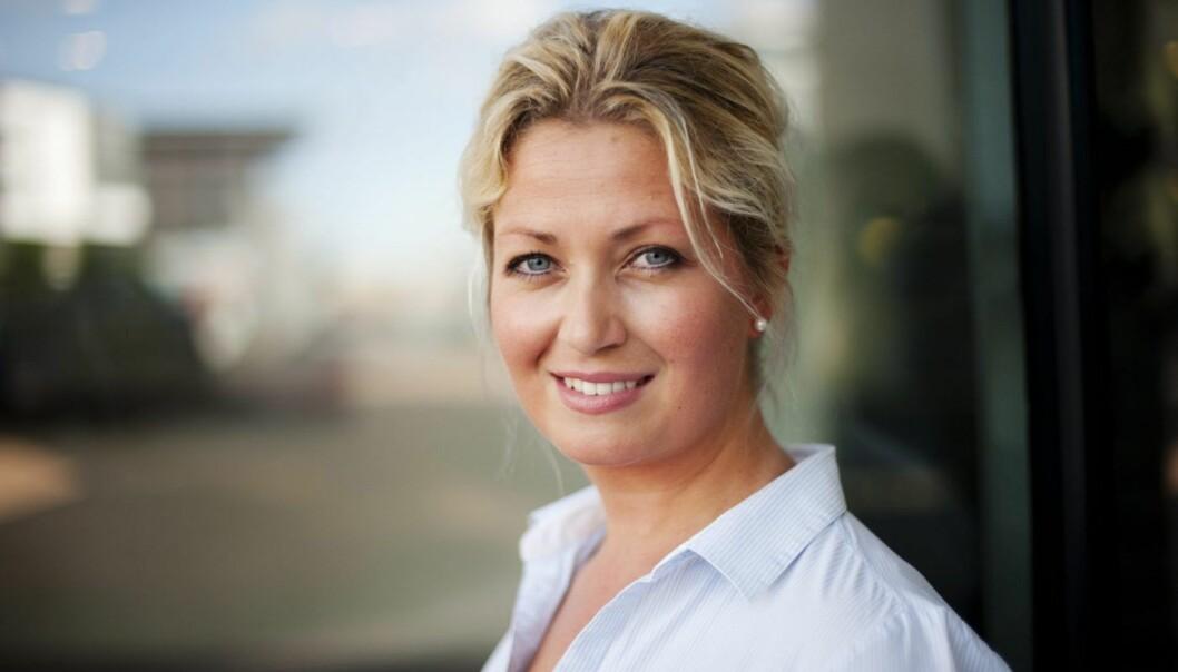 Nina K. Hareide-Larsen, direktør for sosiale medier i DNB. Foto: Stig B. Fiksdal