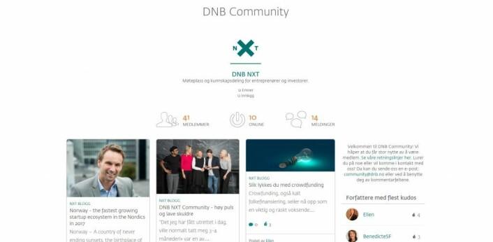Skjermbilde av DNBs nye tjeneste.