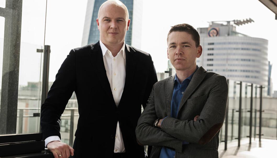 Gründerne Lars Martinsen (f.v.) og Håkon Årøen står bak Memcare.