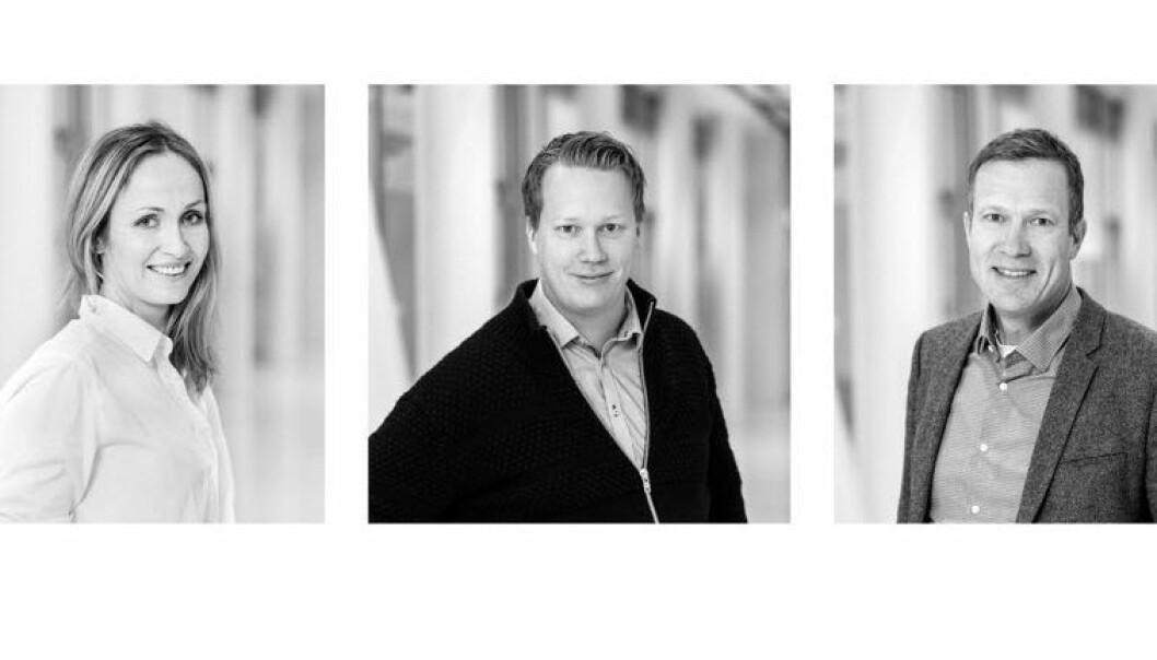 Attensi-teamet: Fra venstre: Anne Lise Waal, Krister Kristiansen, Bjarne Johnson.