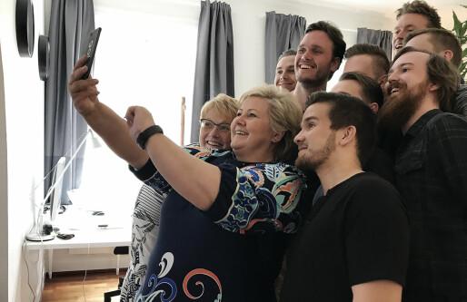 Du vet valgkampen har begynt når statsministeren besøker hardtarbeidende gründere, tar selfie og leker i ballrommet