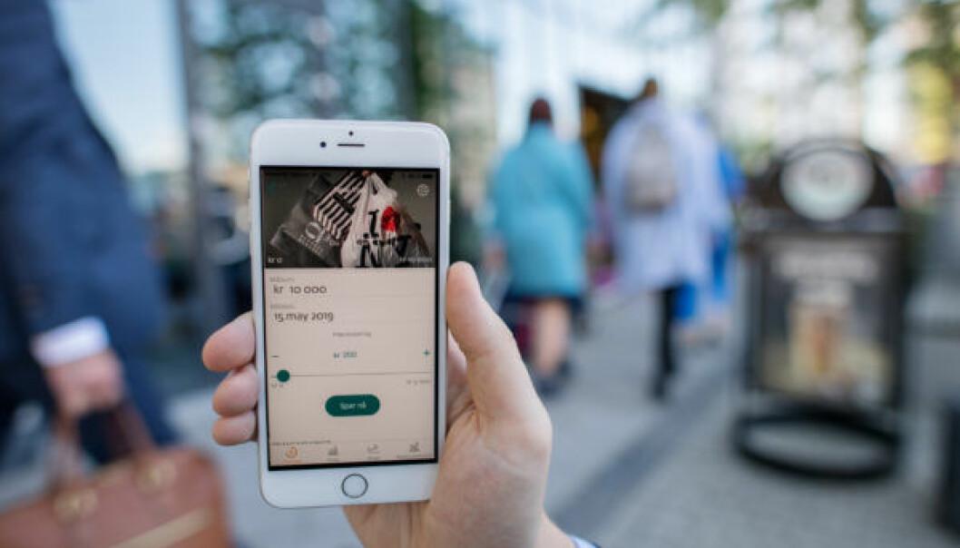 Spare-appen til DNB. Foto: DNB