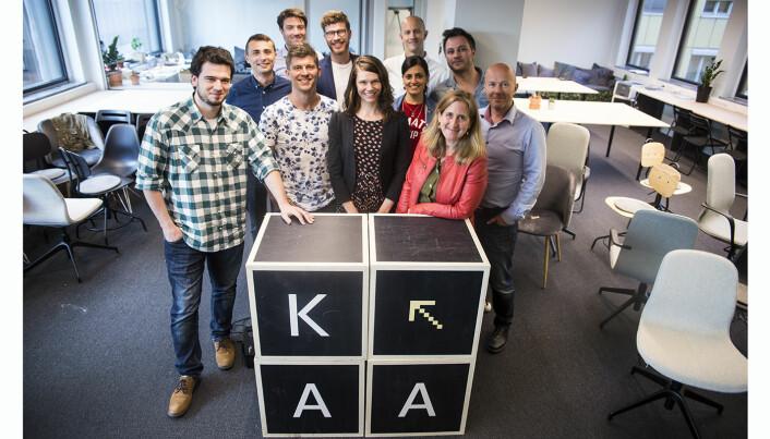 De utvalgte selskapene i Katapult-akseleratorens første runde. Foto: Per-Ivar Nikolaisen