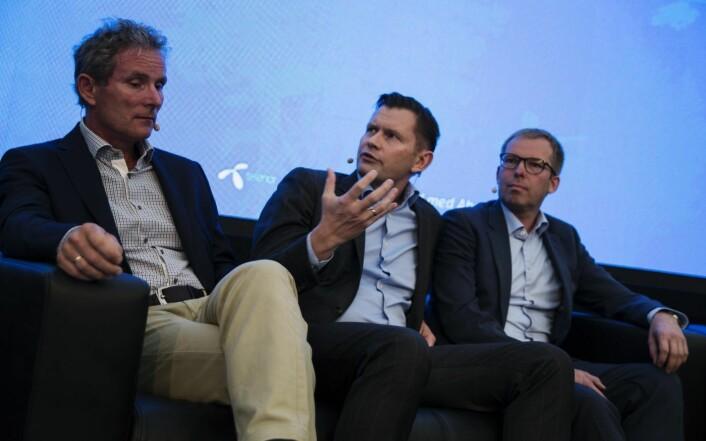 Tellef Thorleifsson i Nrothzone, Haakon Jensen i Investinor og Håkon Haugli var skjønt enig i at Norge bør lære av Sverige. Foto: Per-Ivar Nikolaisen