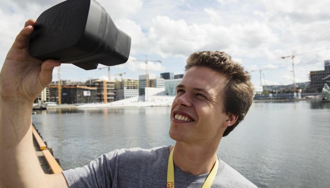 Eirik Wahlstrøm har gründet Moviemask sammen med Harald Manheim. Foto: Per-Ivar Nikolaisen