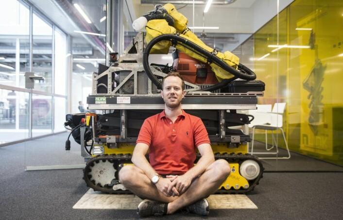 Innovasjonssjef Konrad Fagertun i nLink sitter på StartupLab. Foto: Per-Ivar Nikolaisen
