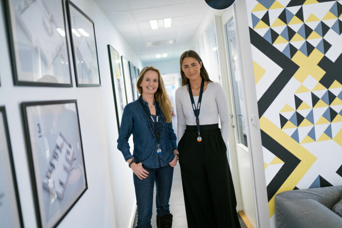 Marianne Bratt Ricketts og Stine Norum har bakgrunn fra Innomag, før de stiftet Vibbio. Foto: Vibbio