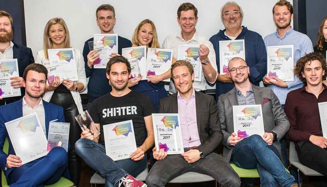 De norske vinnerne som går videre til finalen i Nordic Startup Awards. Foto:  Olga Shavrina, Flow