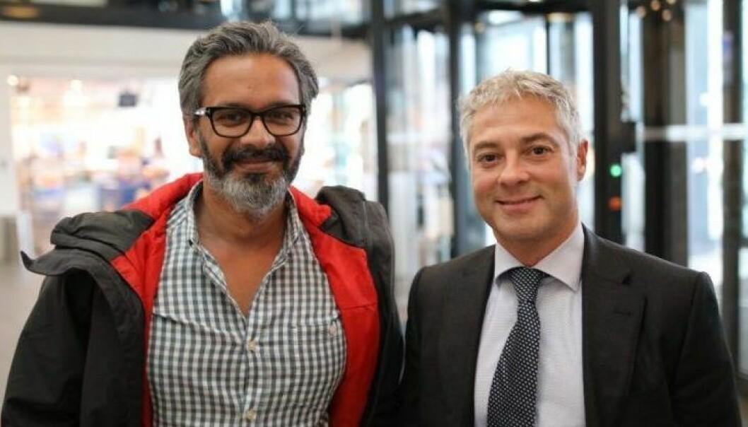 Wasim Rashid i Telia og Salvador Baille i Intelis. Foto: Lucas Weldeghebriel