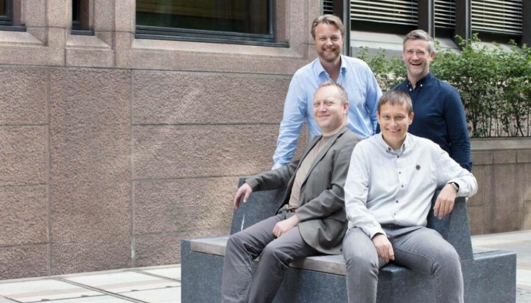 Bak fra venstre: Jarle Holm, David Baum, Trond Pedersen, Anders Karlsen. foto: Monner