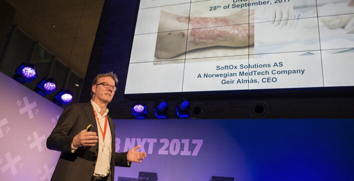 Geir Almås i SoftOx Solutions utvikler en løsning for å bekjempe antibiotikaresistens. Foto: Per-Ivar Nikolaisen