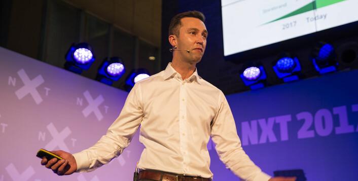 Karl Martin Lind i Eyr Medical har laget en online legetjeneste, med tilhørende tjenester. Foto: Per-Ivar Nikolaisen
