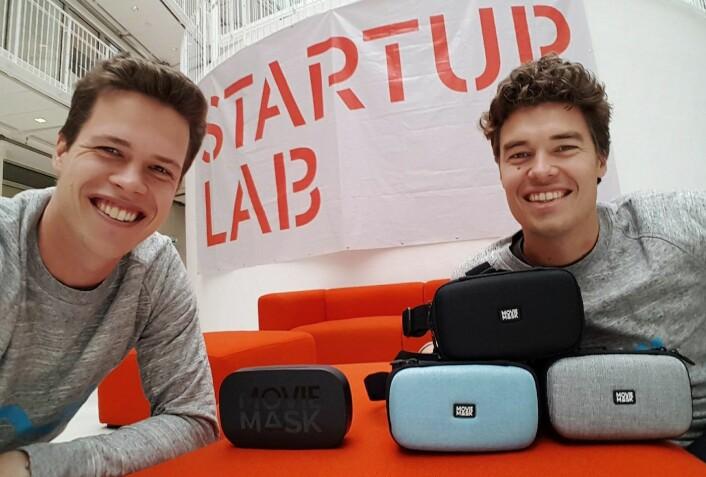 Gründerne Eirik Wahlstrøm og Harald Manheim har kontorer på StartupLab i Oslo. Foto: MovieMask