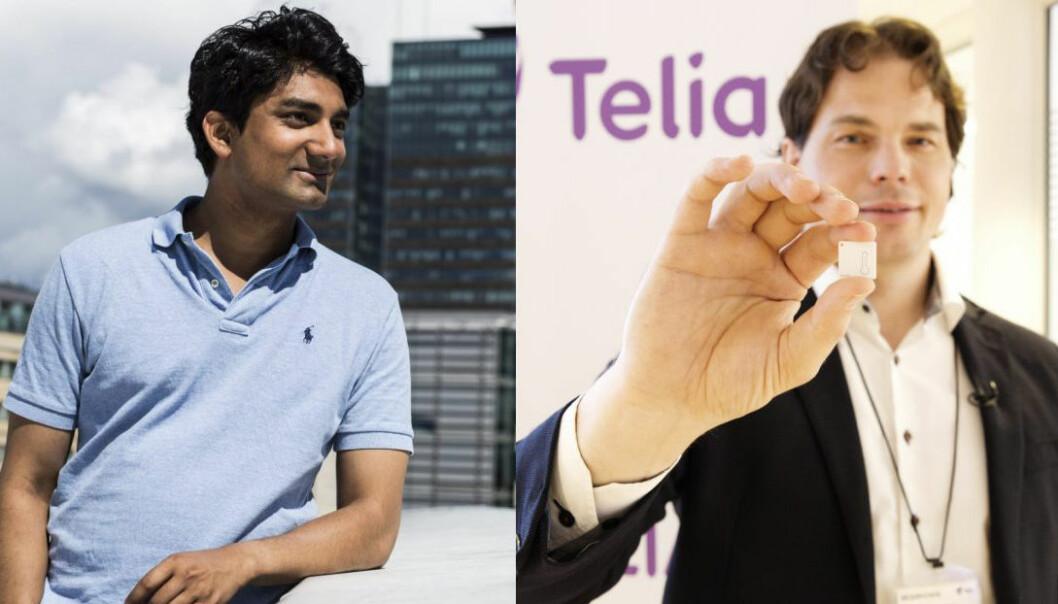 Murshid Ali i Huddlestock og ERik Fossum Færevaag i Disruptive Technologies van Nordic Startup Awards. Fotos: Per-Ivar NIkolaisen