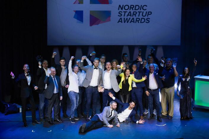 Alle vinnerne i Nordic Startup Awards. Foto: Nordic Startup Awards