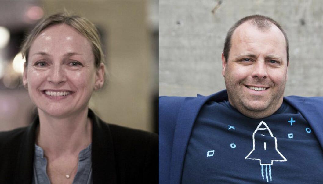 Liv Freihow i IKT-Norge og Espen Einn i Payr har samarbeidet om den nye Fintechguiden. Fotos: Per-Ivar Nikolaisen