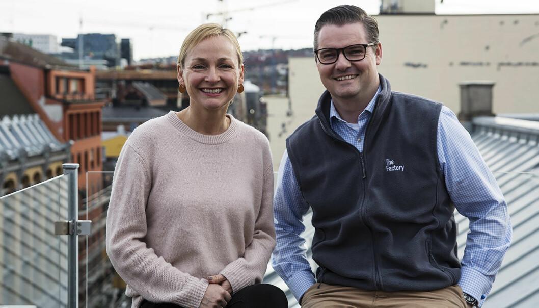 Liv Freihow i IKT-Norge og Ingar Bentsen i TheFactory lanserte Oslo Fintech Hub tidligere i år. Foto: Per-Ivar Nikolaisen
