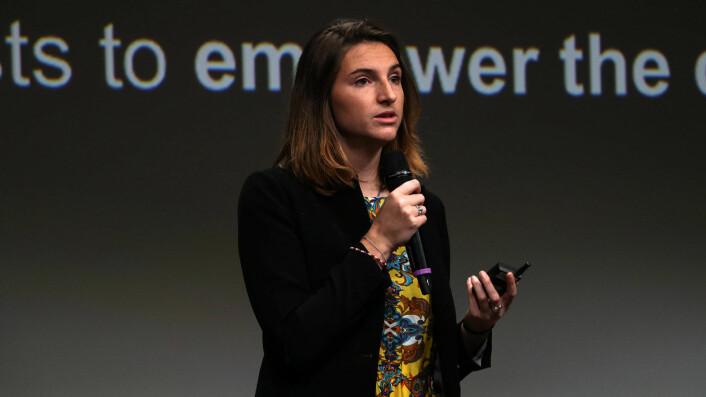 Joséphine Goube.leder Techfugees-nettverket som oppsto som følge av flyktningstrømmen. Foto: Jawad Allazkani, Techfugees