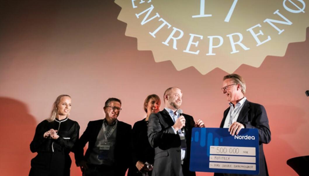 Motitech ble i går kåret til Årets Sosiale Entreprenør 2017, for sitt arbeid med å få eldre og demente til å delta i trening.