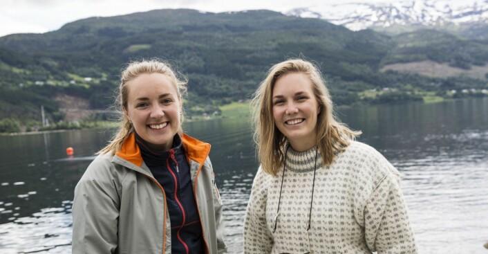 """Daglig leder Andrea Holvik Thorson og markedssjef Emilie Aabakken er """"friluftsmennesker"""", her under Startup Extreme tidligere i år. Foto: Per-Ivar Nikolaisen"""