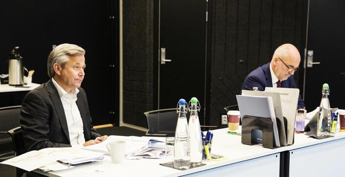 Nikolai Prydz og hans advokat partner John S. Gulbrandsen i Bing Hodneland. Foto: Per-Ivar Nikolaisen