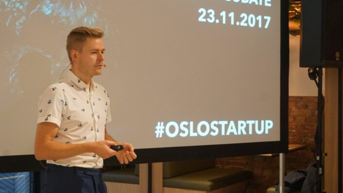 Jørn Haanæs forteller om Oslo Business Region og inkubatormiljøet i Oslo. Foto: Siw Andersen
