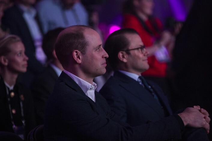 Prins William og prins Daniel på første rad under Al Gores foredrag på Slush 2017. Foto: Per-Ivar Nikolaisen
