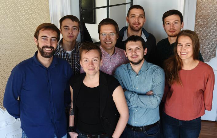 Iris.ai sitt team har medlemmer fra en rekke land. Foto: Iris