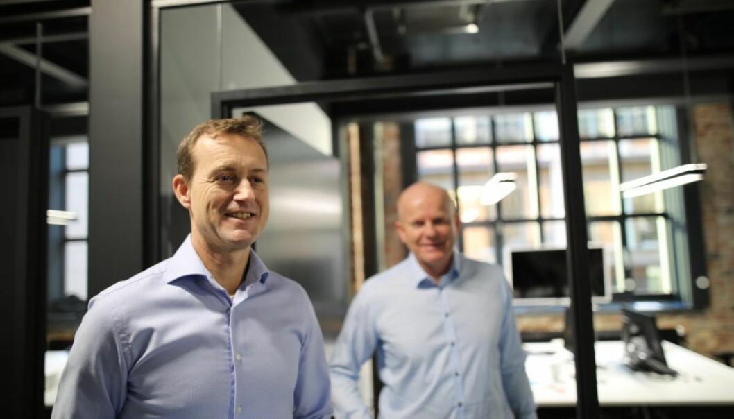 Morten Rynning og Harald Jellum, gründere av AiSpot. Foto: Lucas H. Weldeghebriel