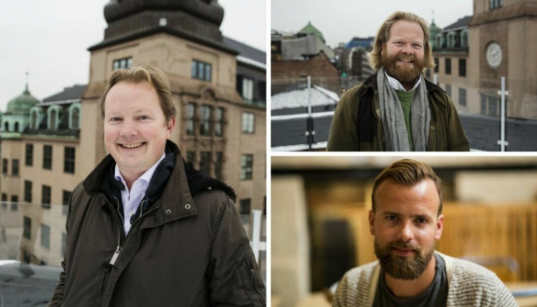 Bjarne Melby, Christian Hestenes og Johan Brand. Foto: Per-Ivar Nikolaisen.