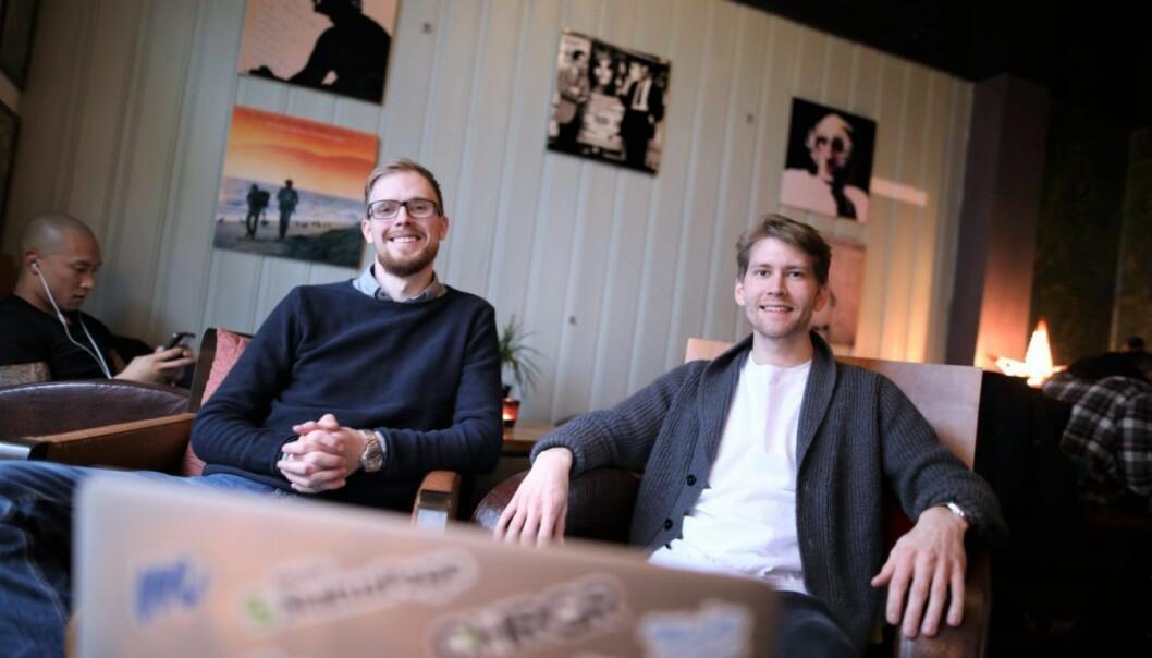 Pål Torgersen, COO i Synq og Kasper Niclas Andersen, designer og medgründer av Synq. Foto: Lucas Weldeghebriel