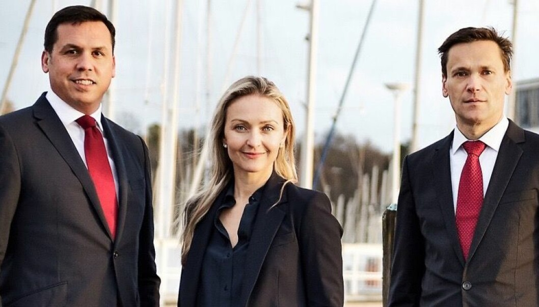Hadean Ventures: Fra venstre: Dr. Siro Perez, Dr. Ingrid Teigland Akay, Dr. Walter Stockinger. Foto: Hadean Ventures