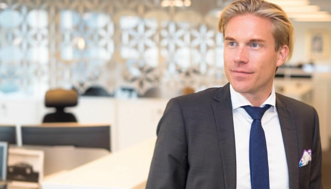 Christoffer O. Hernæs, CDO i Sbanken. Foto: Sbanken