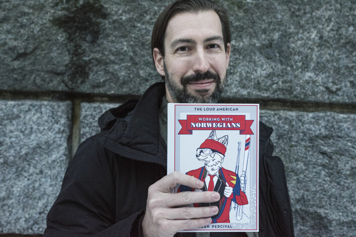 "Sean Percival har skrevet ""Working with Norwegians"", under pseudonymet The Loud American. Foto: Per-Ivar Nikolaisen"