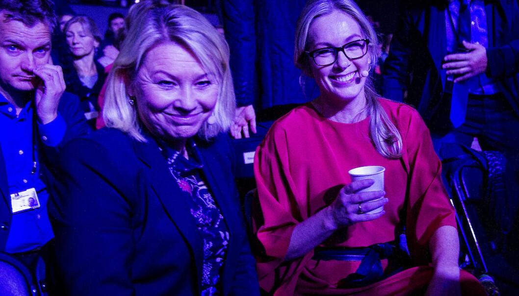 Næringsminister Monica Mæland og Innovasjon Norge-sjef Anita Krohn-Traaseth under Oslo Innovation Week i 2016. Foto: GORM K GAARE / EUP-BERLIN.COM