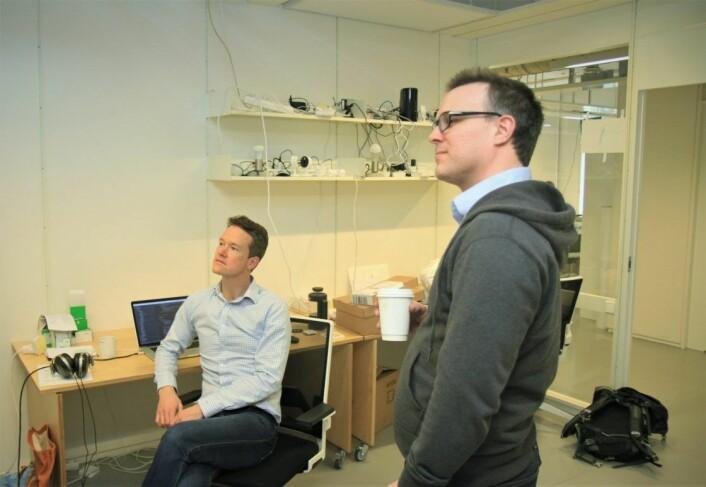 Kyrre Wathne og Henrik Holen grunnla Viva Labs i 2012. Foto: Lucas H. Weldeghebriel